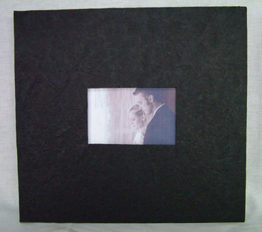 Black photo cover scrapbook