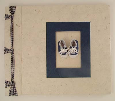 Tiny blue tennies handmade scrapbook