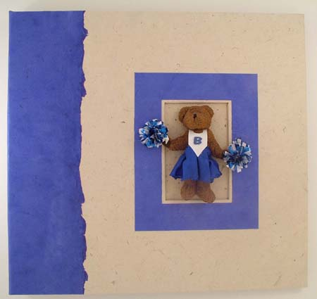 cheerleader bear handmade scrapbook