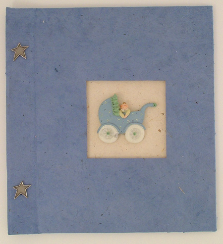 blue buggy handmade scrapbook