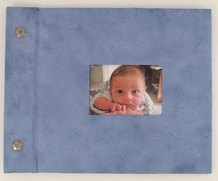 blue photo handmade scrapbook