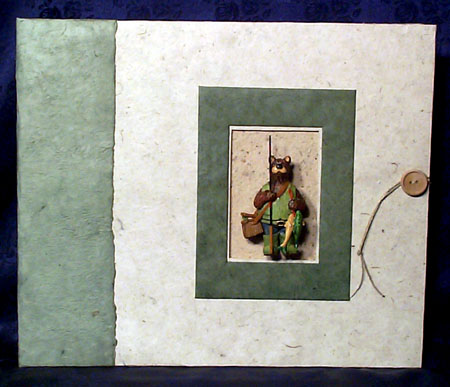 fishing bear scrapbook