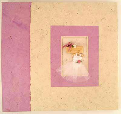 lilac princess dress handmade scrapbook
